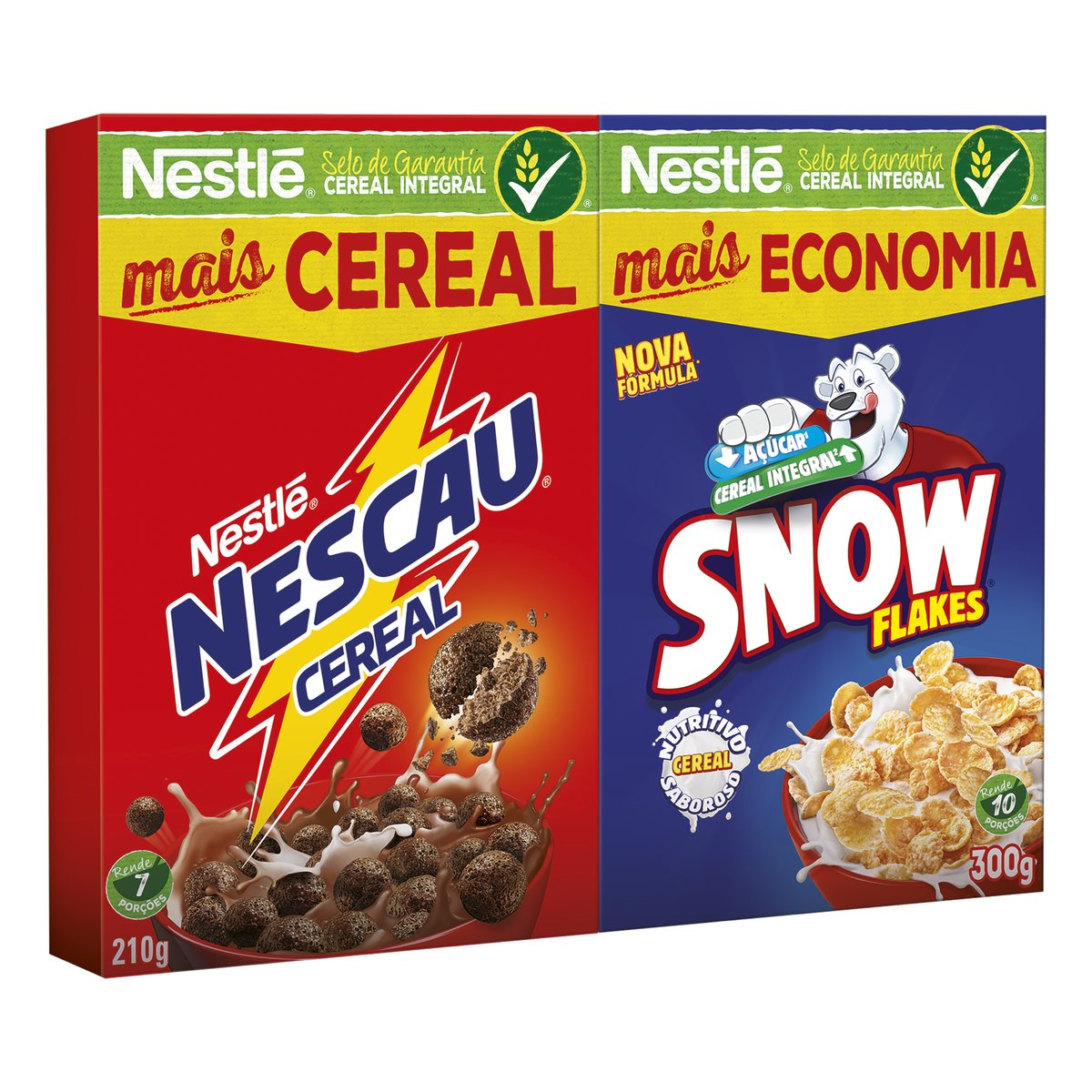 KIT MATINAL CEREAL NESCAU 210g + SNOW FLAKES 300g