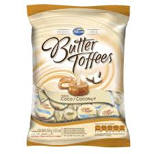 Bala Arcor Butter Toffees Coco 100g