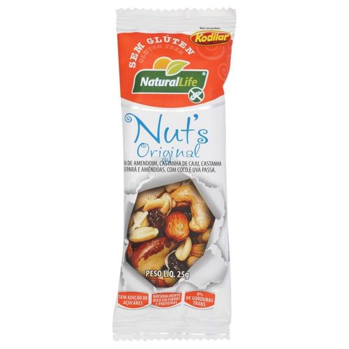 Barra Nuts Natural Life Original S/G 25g