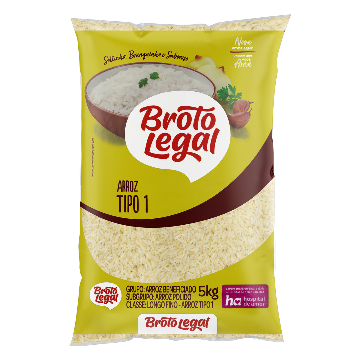 Arroz BROTO LEGAL Agulhinha 5kg