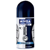 Desodorante NÍVEA Invisible Power Masculino Roll-On  50ml