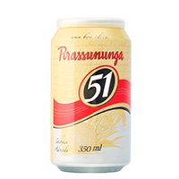 Aguardente 51 PIRASSUNUNGA Lata 350ml