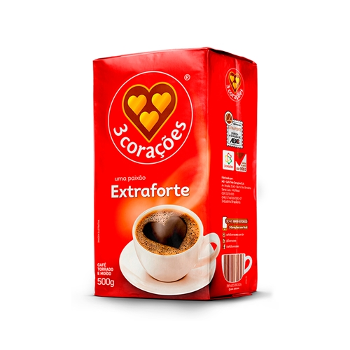 CAFÉ 3 CORACOES EXTRA FORTE VACUO 500g
