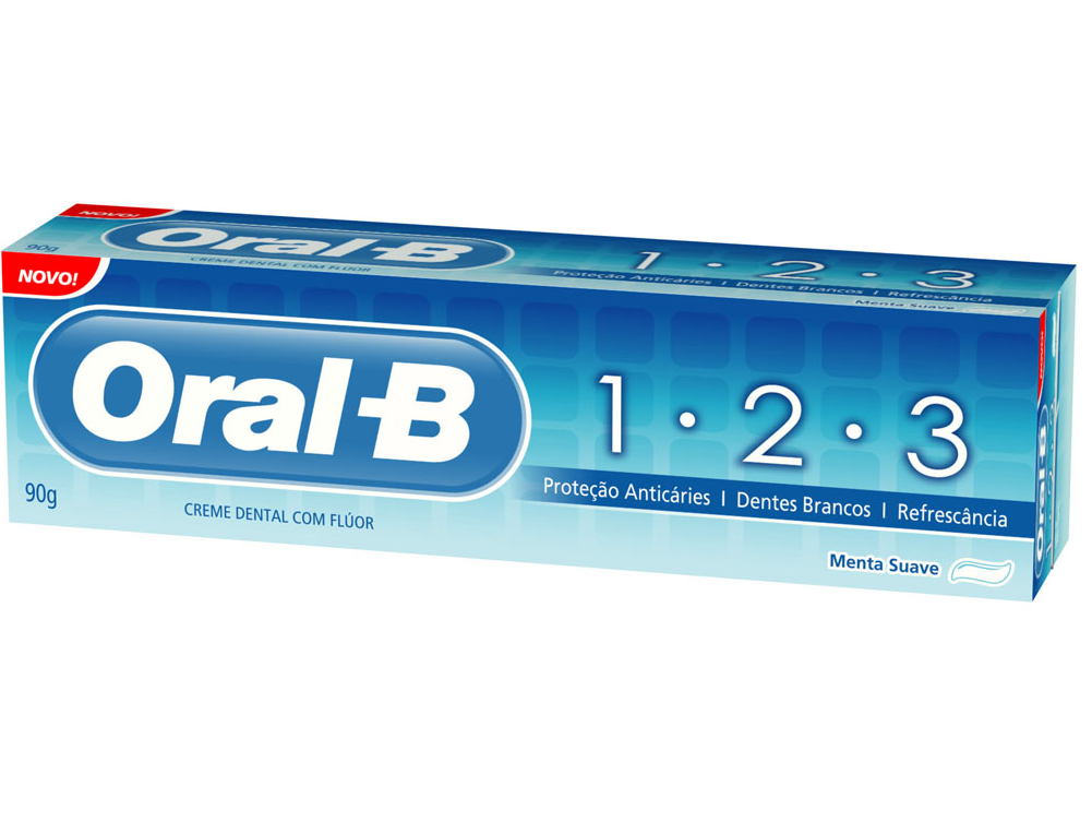 Creme Dental ORAL B 1.2.3 Menta Suave 70g