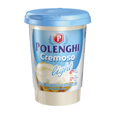 Requeijão POLENGHI Cremoso Light Copo 200g