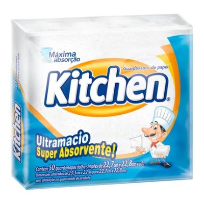 Guardanapos de Papel KITCHEN 22,7 x 22,8cm 50 unid