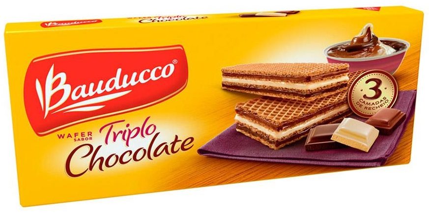 Biscoito Wafer BAUDUCCO Triplo Chocolate 140g